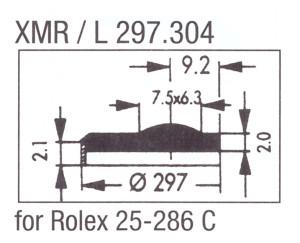 Glas XMR/L 297.304 mineraal