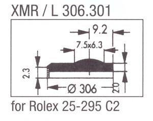 Glas XMR/L 306.301 mineraal