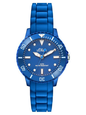 s.Oliver silicone band blue SO-3299-PQ