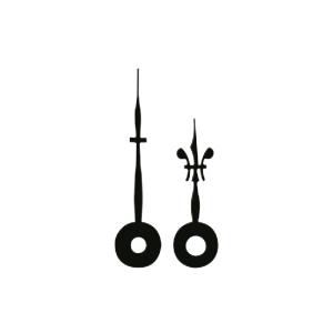 Wijzerpaar Euronorm Lelie zwart Min.- / Uurwijzer L: 45mm / 35mm