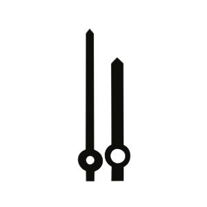 Wijzerpaar Euronorm balkvormig zwart minutenwijzer-L:30 mm