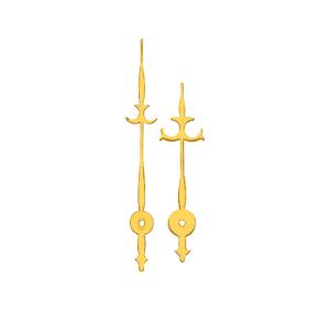 Wijzerpaar Euronorm antiek geel minutenwijzer-L:35 mm