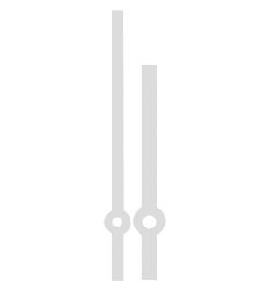 Wijzerpaar Euronorm balkvormig staal minutenwijzer-L:70 mm