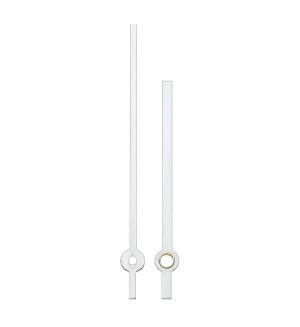 Wijzerpaar Euronorm balkvormig wit minutenwijzer-L:65 mm