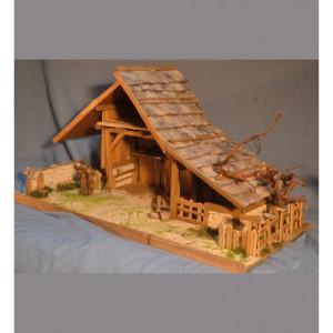 Kerststal bouwset van Hochalm