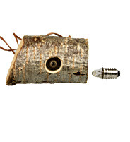 Wooden Log with built-in mini-bulb