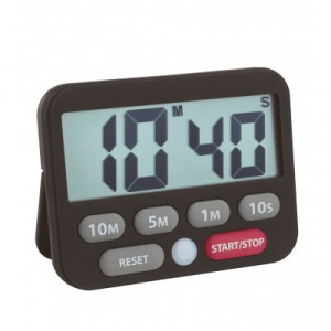 Digitale timer + stopwatch, zwart