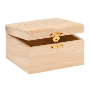 Houten doos rechthoekig
