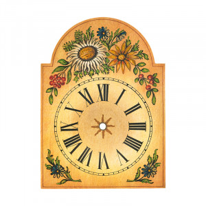 Clock plate with thistle decoration 75x115mm