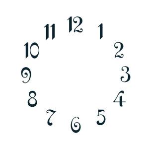 Cijferset arabische cijfers, Messing zwart L: 10mm