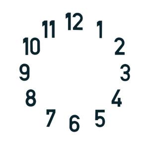 Zahlensatz arabische Zahlen Messing L=20 mm