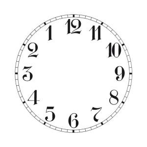 Wijzerplaat voor achteruitloop uurwerken
