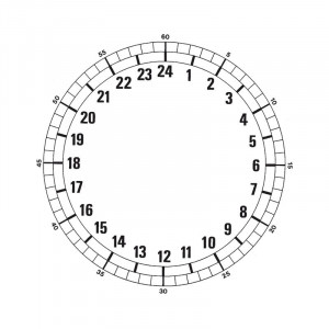 24-uurs wijzerplat Ø 185 mm