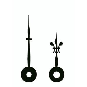 Wijzerpaar Euronorm Lelie zwart Min.- / Uurwijzer L: 28mm / 20mm