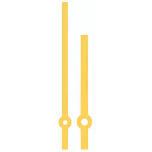 Wijzerpaar Euronorm balkvormig geel minutenwijzer-L:80 mm