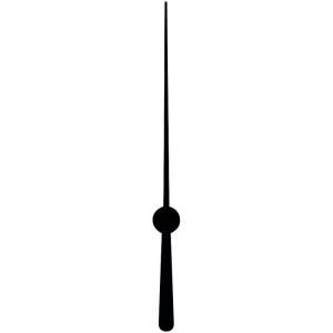 Secondewijzer, 52 mm, zwart