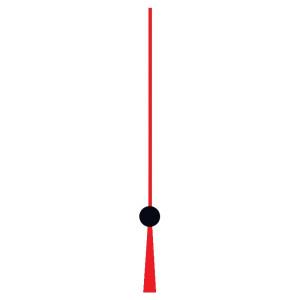 Secondenwijzer voor batterijuurwerken draad rood/zwart WWL:100mm