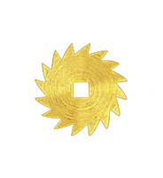 Ratchet wheel brass exterior Ø: 18 square opening: 3x3mm
