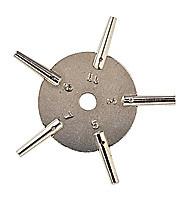 Stersleutel voor ZH nr-3-5-7-9-11 vierkant 1,65-1,50-1,30-1,15-1,00 mm