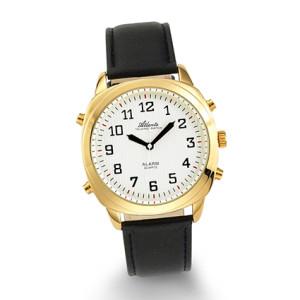 Atlanta 8908/9 gold sprechende Armbanduhr