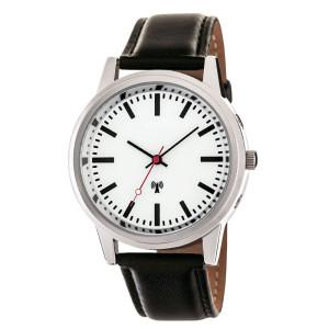 Tijdsein gestuurd horloge in stationsklokstijl...