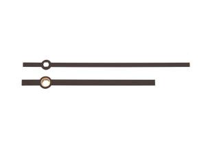 Wijzerpaar euronorm recht zwart, Lengte wijzers 100/75mm