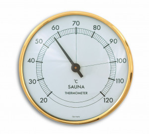 Thermomètre de sauna, Ø 102mm