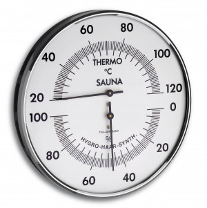 Sauna Thermo-/Hygrometer, Ø 132mm