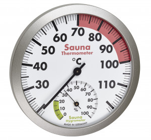 Sauna Thermo- Hygrometer,  Ø 120mm