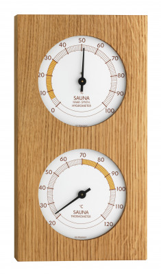 Sauna-Thermo-Hygrometer, 130x242mm