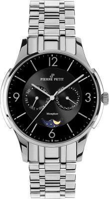 Pierre Petit Multifunctie horloge St.Tropez zwart - Swiss Made
