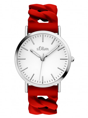 s.Oliver Siliconenband rood SO-3508-PQ
