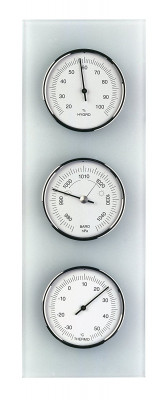 TFA weather station with frosted glass