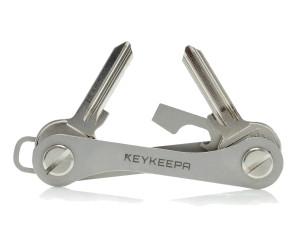 Keykeepa Sleutelhouder Roestvrij staal, tot 12 sleutels, zilver
