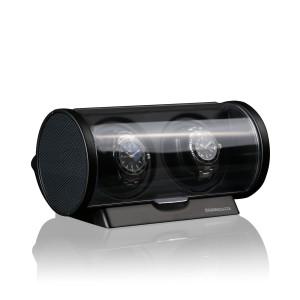 Timemover Tubix carbon/zwart, voor 2 horloges