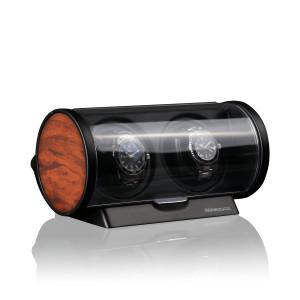 Timemover Tubix wortelnotenhout, voor 2 horloges