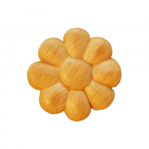 Wooden decorative flower Ø 40 x 7mm