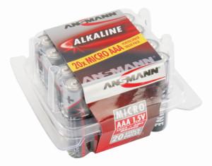 RED Assortiment alkaline batterijen / AAA / LR03 20 stuks