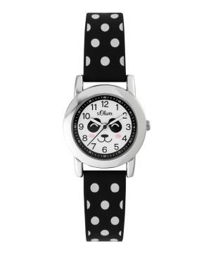 s.Oliver horlogenbandje silicone zwart SO-3613-PQ