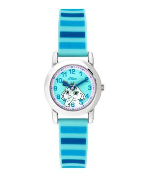 s.Oliver horlogenbandje silicone lichtblauw SO-3614-PQ