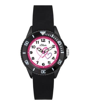 s.Oliver horlogenbandje silicone zwart SO-3633-PQ