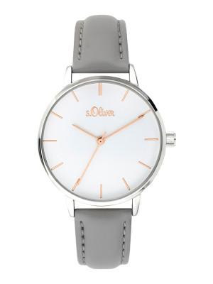 s.Oliver imitatieleer horlogebandje grijs SO-3645-LQ