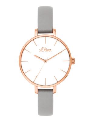s.Oliver imitatieleer horlogebandje grijs SO-3651-LQ