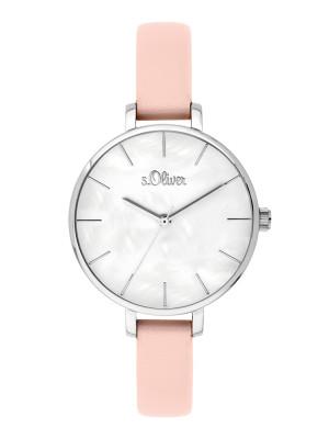 s.Oliver imitatieleer horlogebandje roze SO-3642-LQ