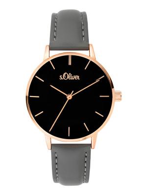 s.Oliver imitatieleer horlogebandje grijs SO-3646-LQ