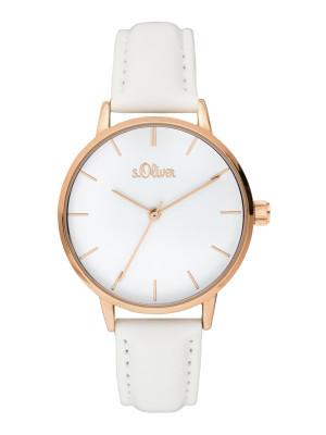 s.Oliver imitatieleer horlogebandje wit SO-364-LQ