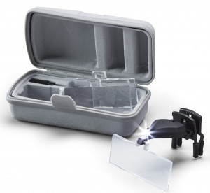 put on/ attachment magnifiers assortment with LED