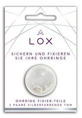 Lox - Oorbel beveiliging, anti allergisch, verzilverd