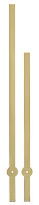 Wijzerpaar Euronorm Balk geel minutenwijzer-L:100mm /75mm