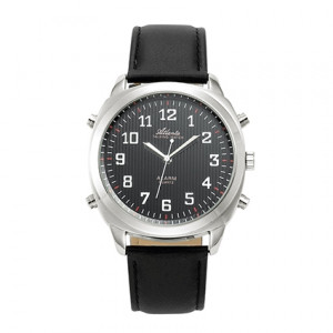 Atlanta 8908/7 silver talking watch